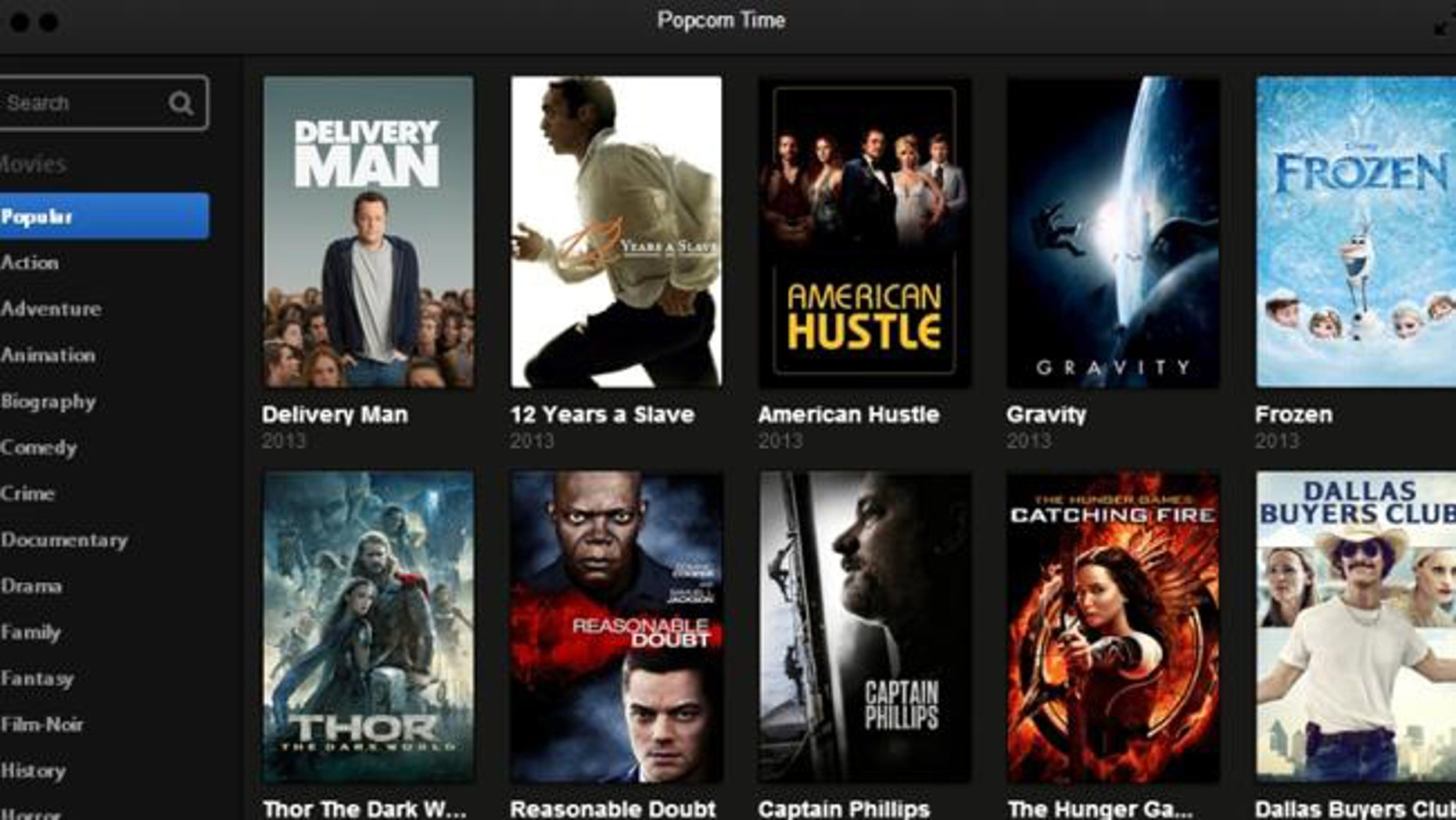 """Slick and simple  the """"Popcorn time"""" app is what consumers want. Too bad its completely and totally illegal."""