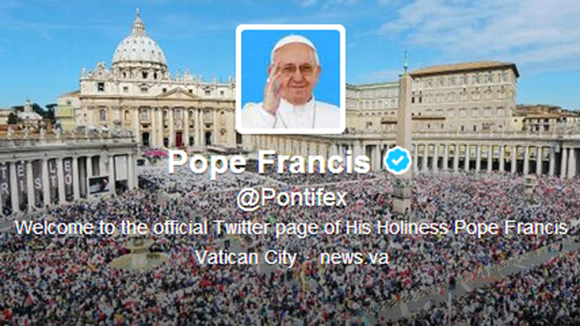 The official Twitter account of Pope Francis.