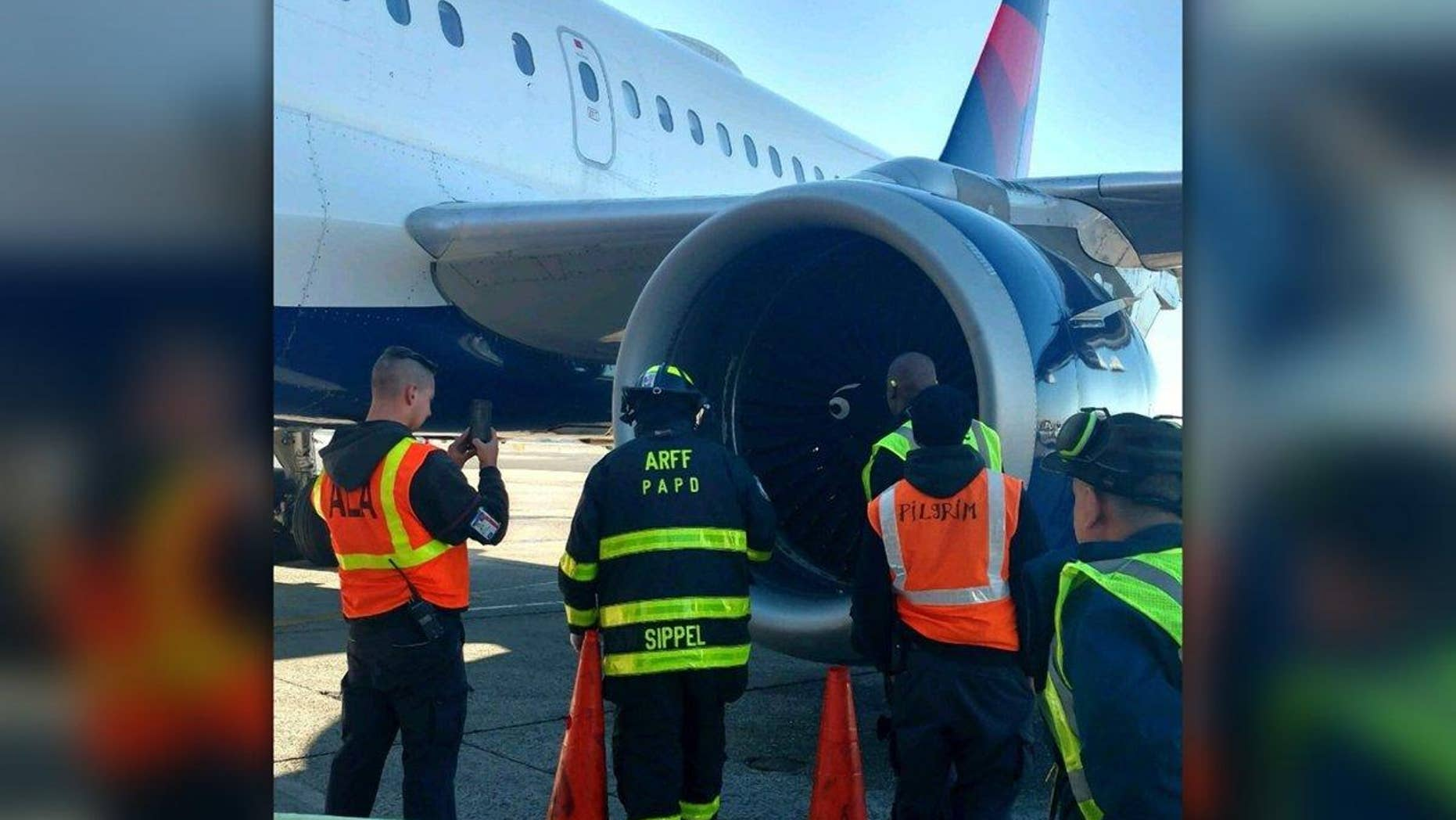 The plane was diverted back to JFK airport to be inspected by the Port Authority Police Department Aircraft Rescue Fire Fighter Unit.