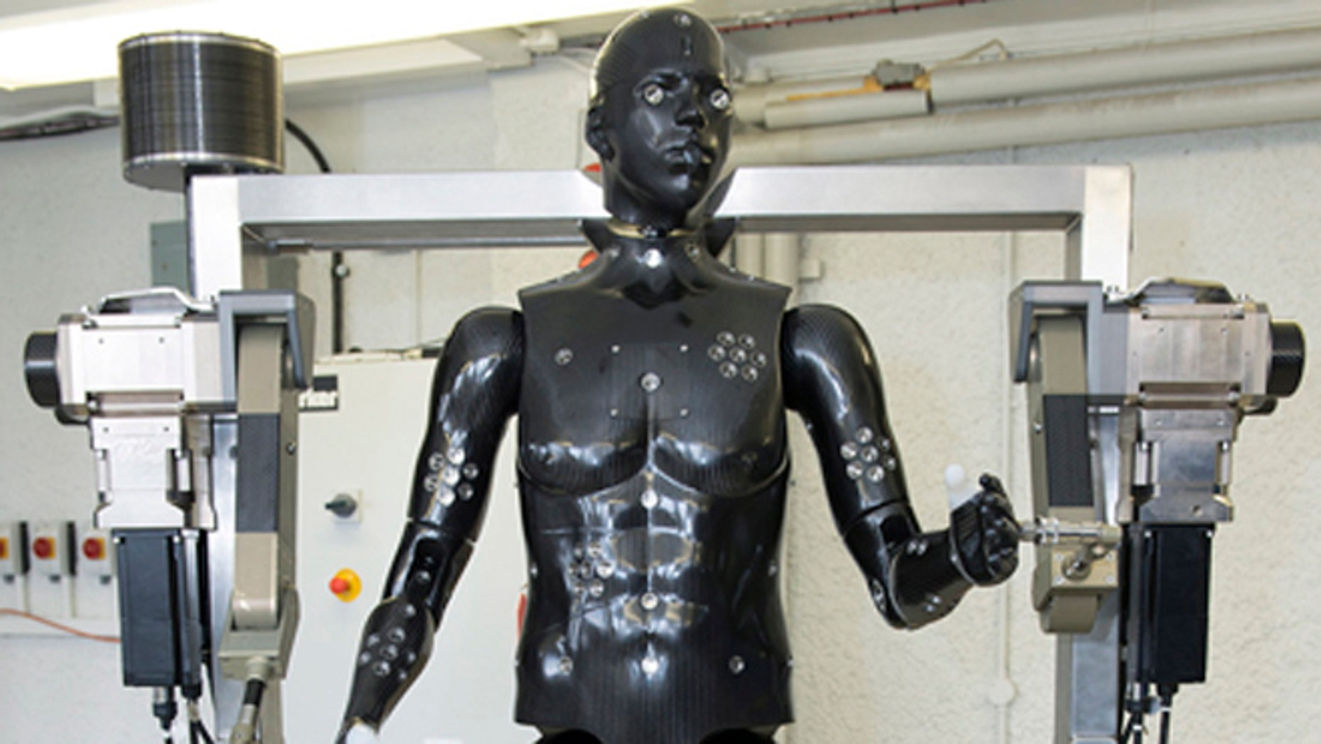 """Scientists plane to use """"Porton Man"""" to test military equipment and protective suits for Britain's armed forces."""