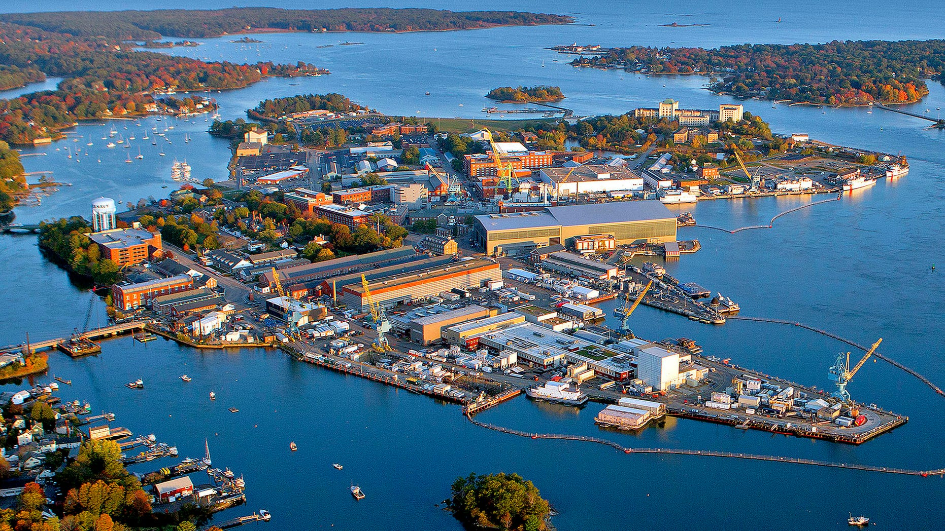 Latest aerial view of Portsmouth Naval Shipyard, America's oldest continuously operating naval shipyard. The shipyard is the Navy's center of excellence for attack submarine overhaul, repair and modernization.