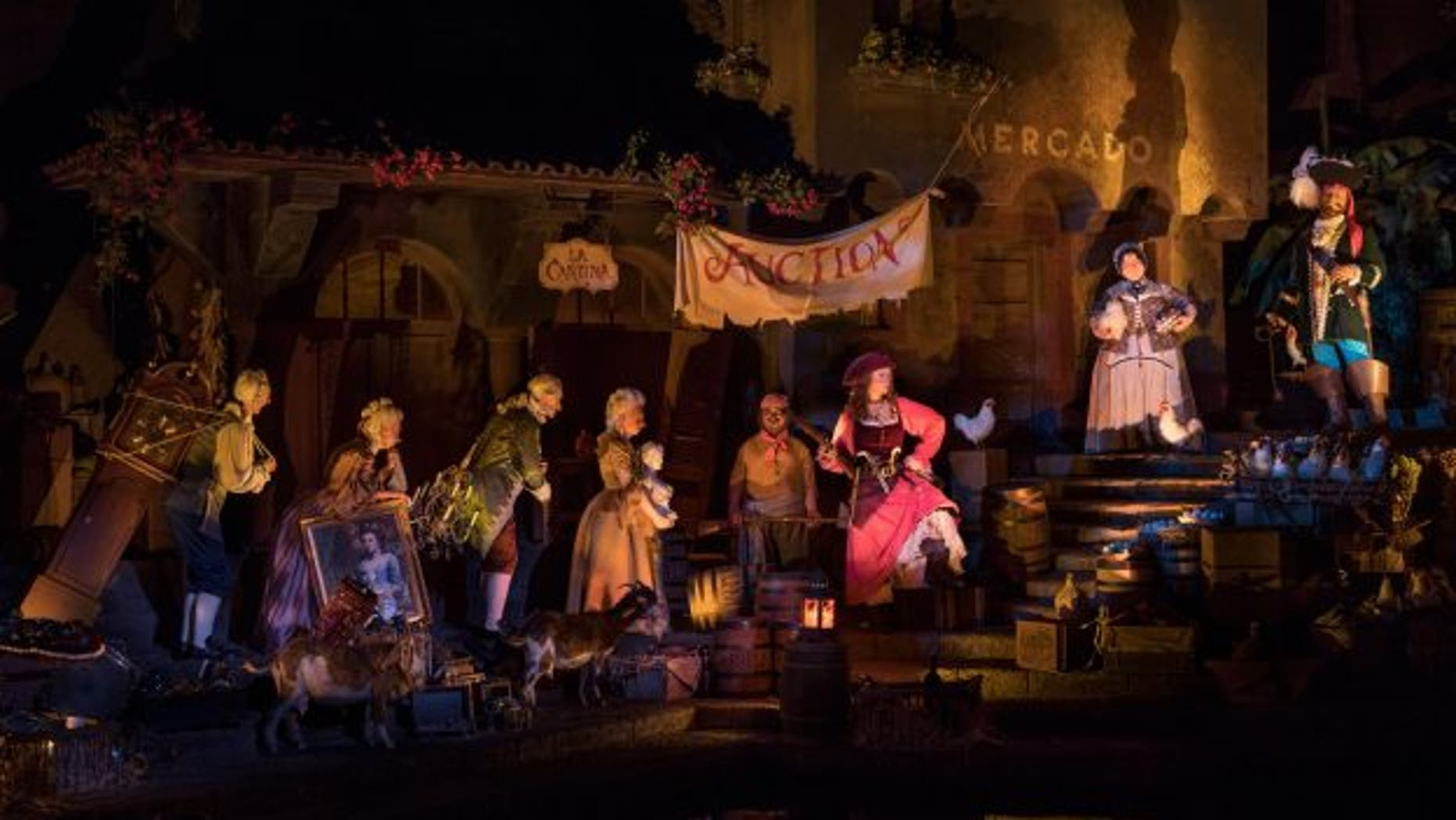 "Disney World's redesigned ""Pirates of the Caribbean"" attraction re-casts the animatronic ""wench"" as a pirate."