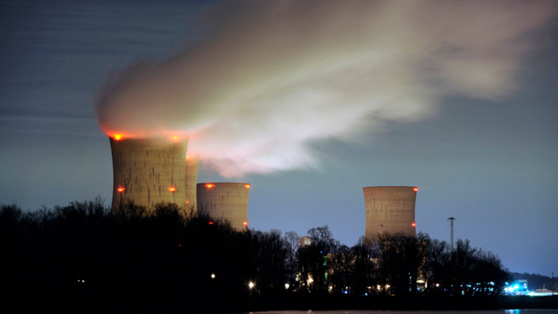 March 15, 2011: The Three Mile Island nuclear power plant, where the U.S. suffered its most serious nuclear accident in 1979, is seen across the Susquehanna River in Middletown, Pennsylvania in this night view.