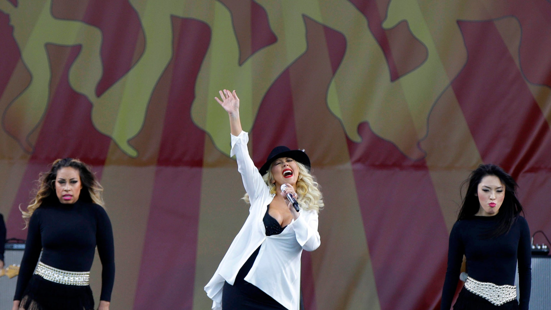 May 2, 2014. Christina Aguilera performs at the New Orleans Jazz and Heritage Festival in New Orleans.