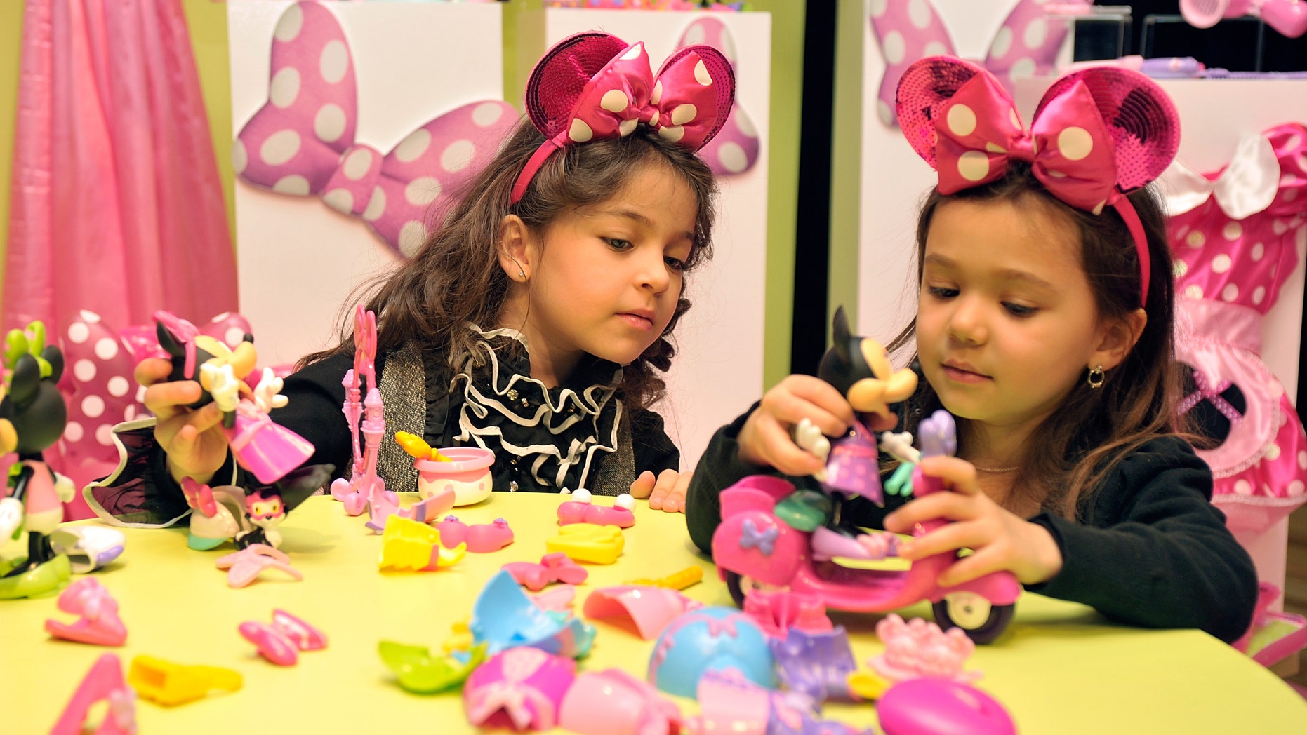 NEW YORK, NY - FEBRUARY 13:  A view of children in a play area that was set up during the Disney Junior toy line unveiling with Osbourne and Arquette at Altman Building on February 13, 2012 in New York City.  (Photo by Joe Corrigan/Getty Images for Disney)