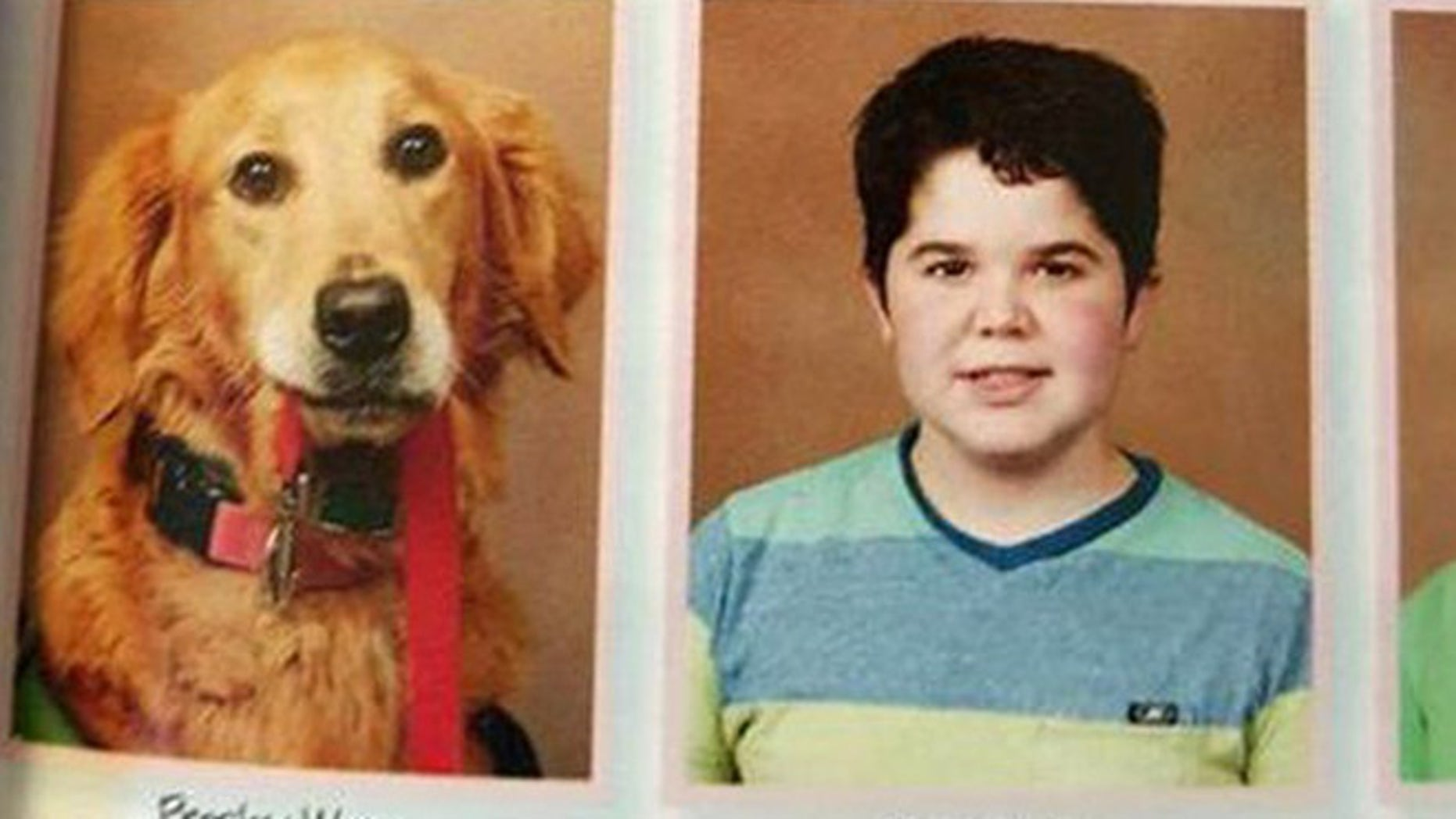 """Presley and Joseph """"Seph"""" Ware in the new yearbook of Good Hope Middle School, in West Monroe, La. (Lori Ware)"""