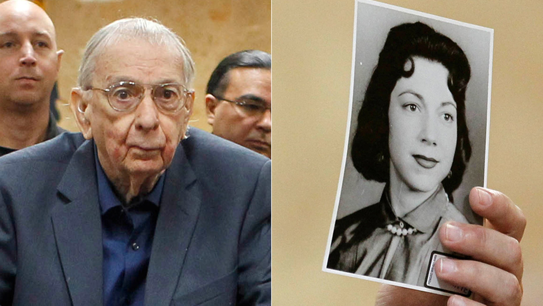 Former priest John Feit was convicted of murdering Irene Garza, whose photo was displayed in court.