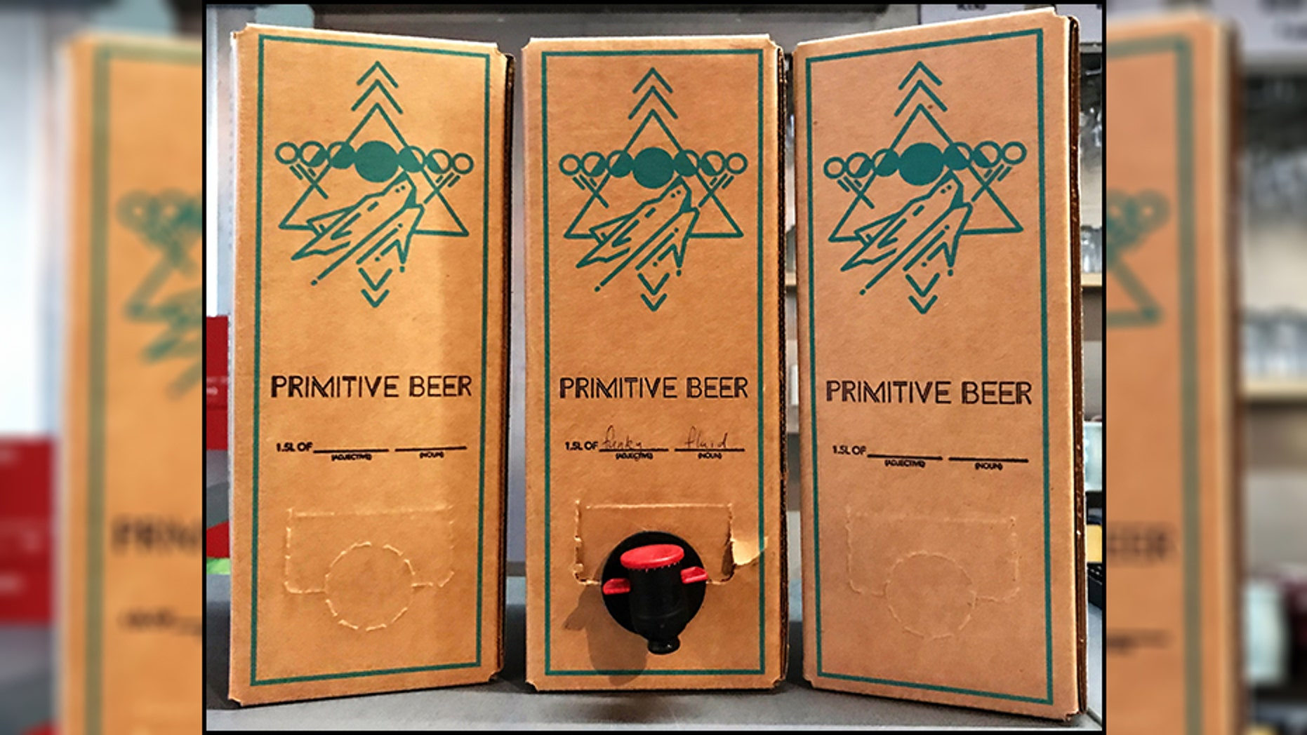 A new taproom in Colorado plans to sell their flat Belgian-style ale in boxes.