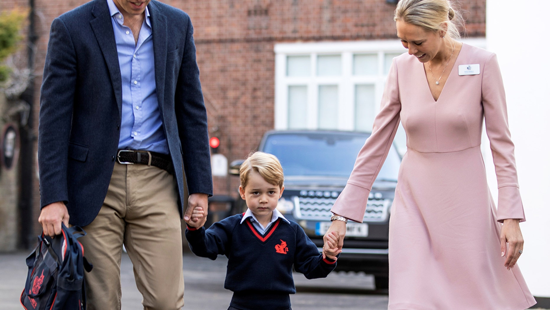 Prince George just started school, but his new teacher won the internet's attention