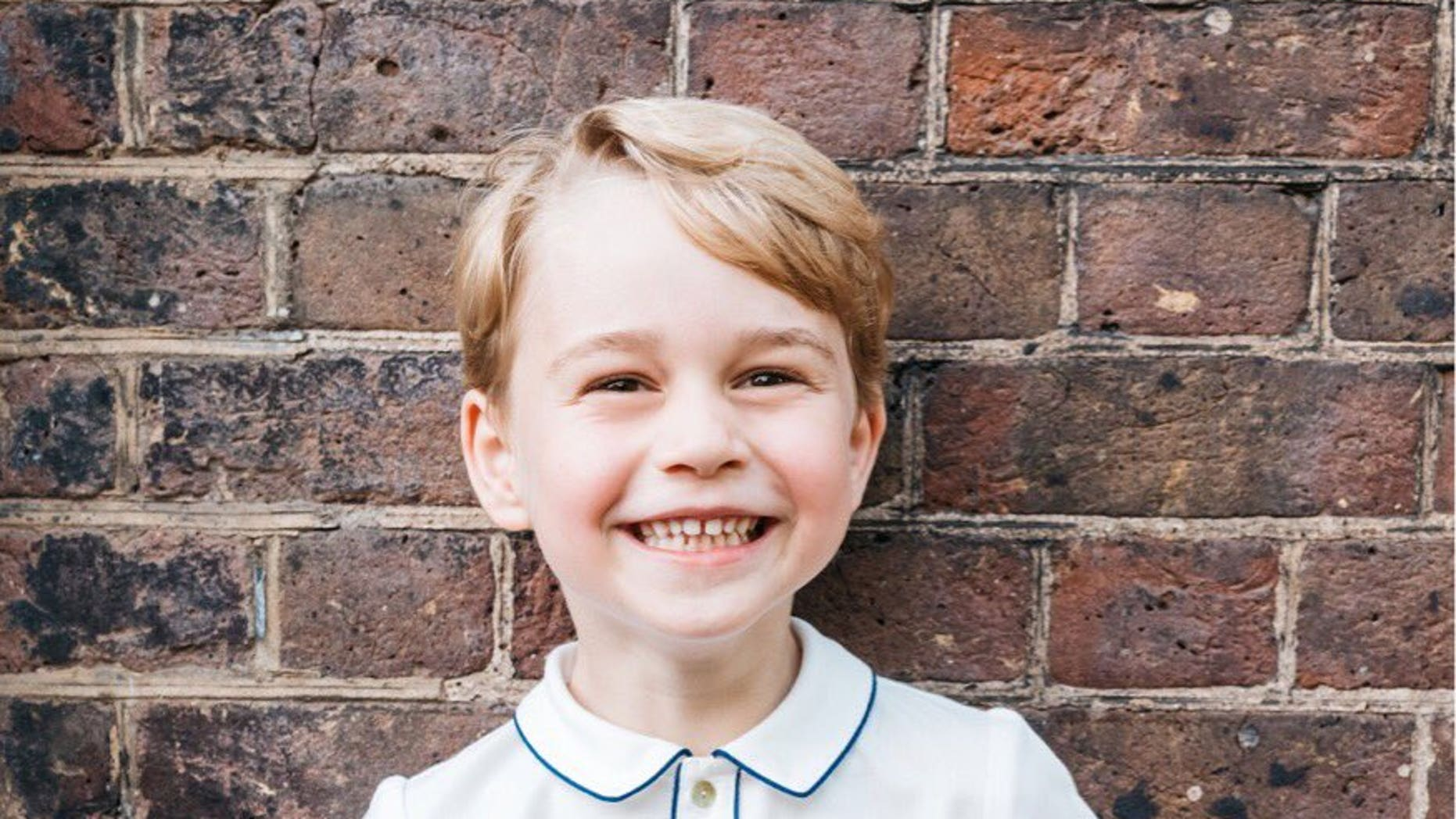 The Royal Family released a cheery photo of Prince George in honor of his fifth birthday.