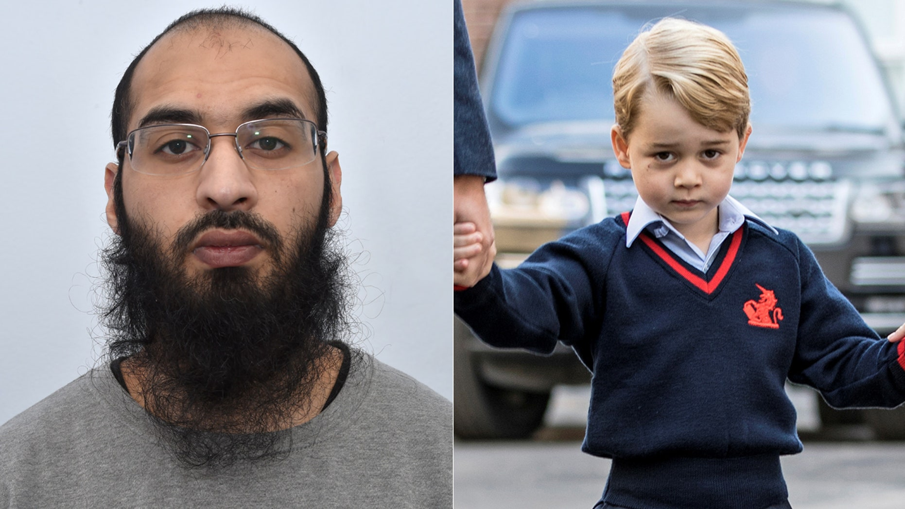 Husnain Rashid, who has pleaded guilty to terrorism offences relating to Britain's Prince George.
