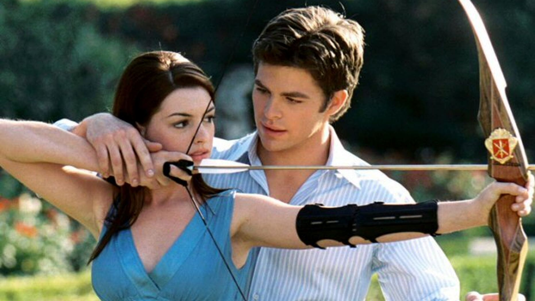A scene from 'The Princess Diaries,' a G-rated film which a study says has 42 seconds of sexual content.