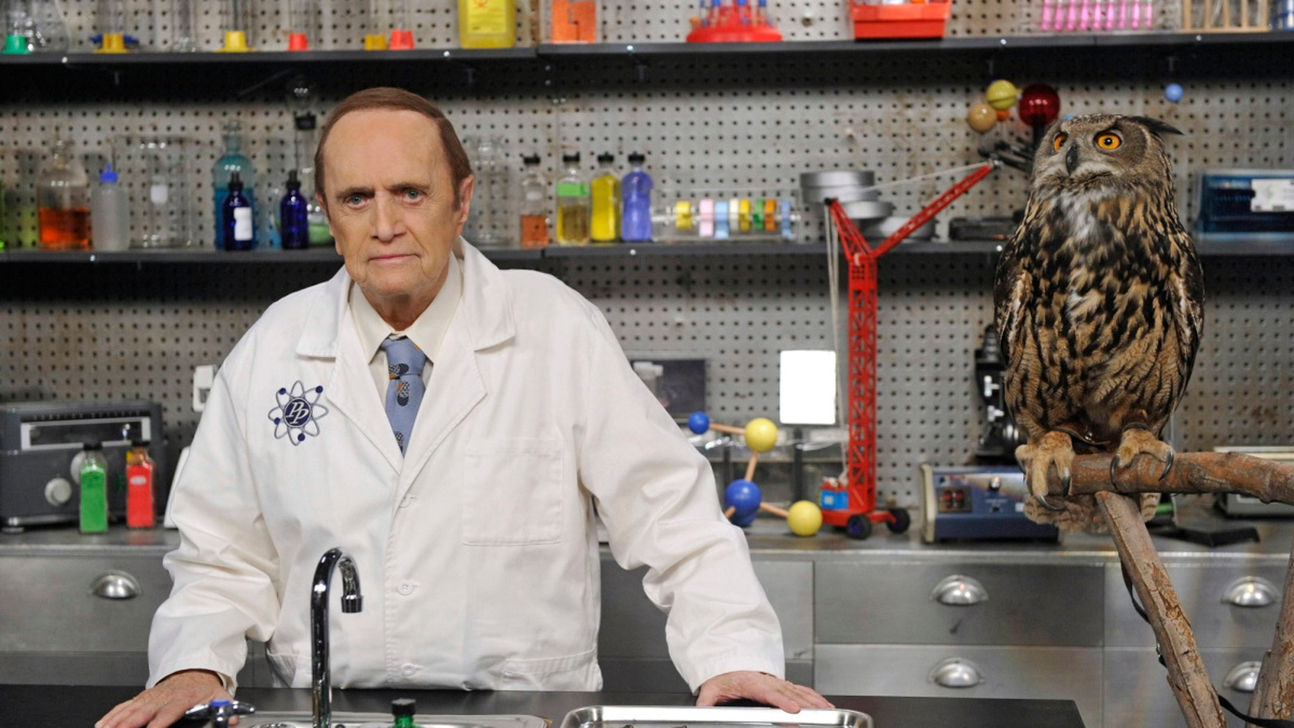 """The Proton Transmogrification"" -- Professor Proton helps Sheldon cope with grief, on THE BIG BANG THEORY, Thursday, May 1 (8:00-8:31 PM, ET/PT) on the CBS Television Network. Bob Newhart (pictured) returns as Professor Proton. 