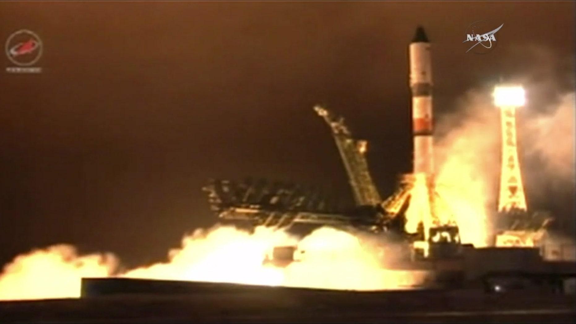 Progress 63 (63P) Spaceship Launch