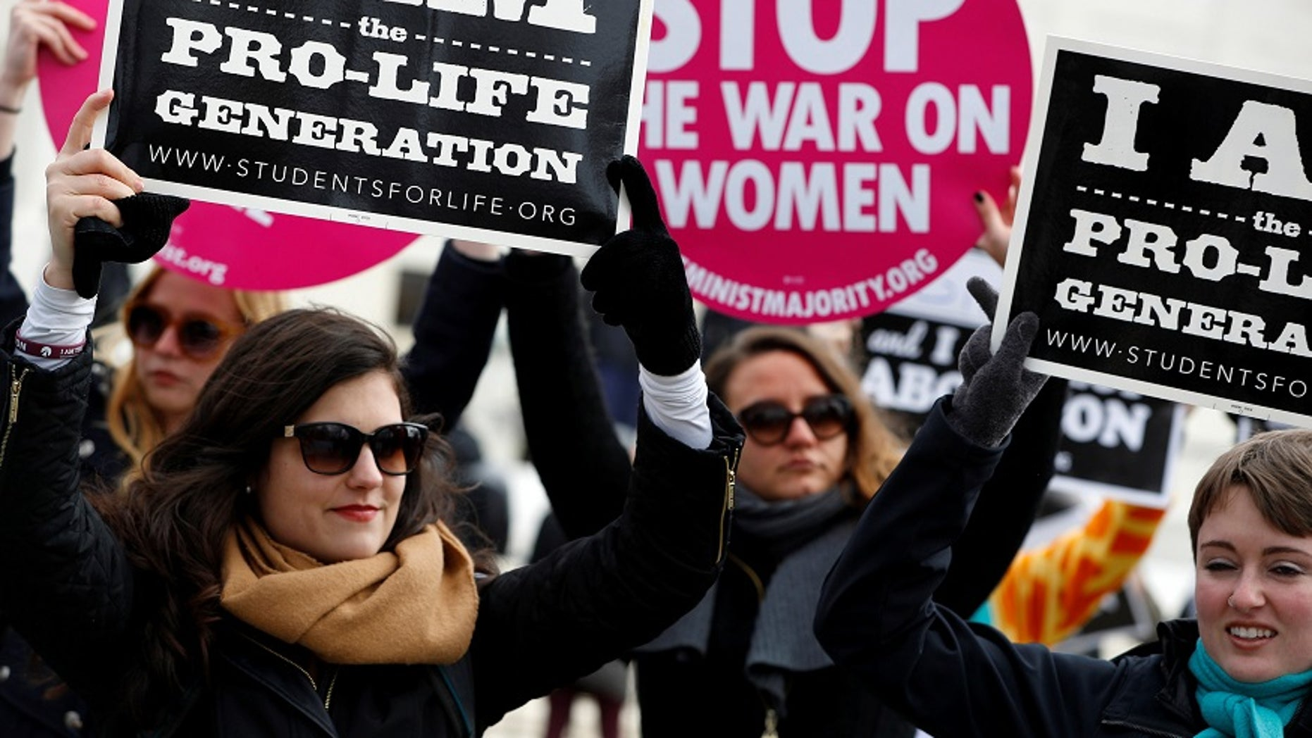FILE -- Pro-life activists gather for the National March for Life rally in Washington January 27, 2017.