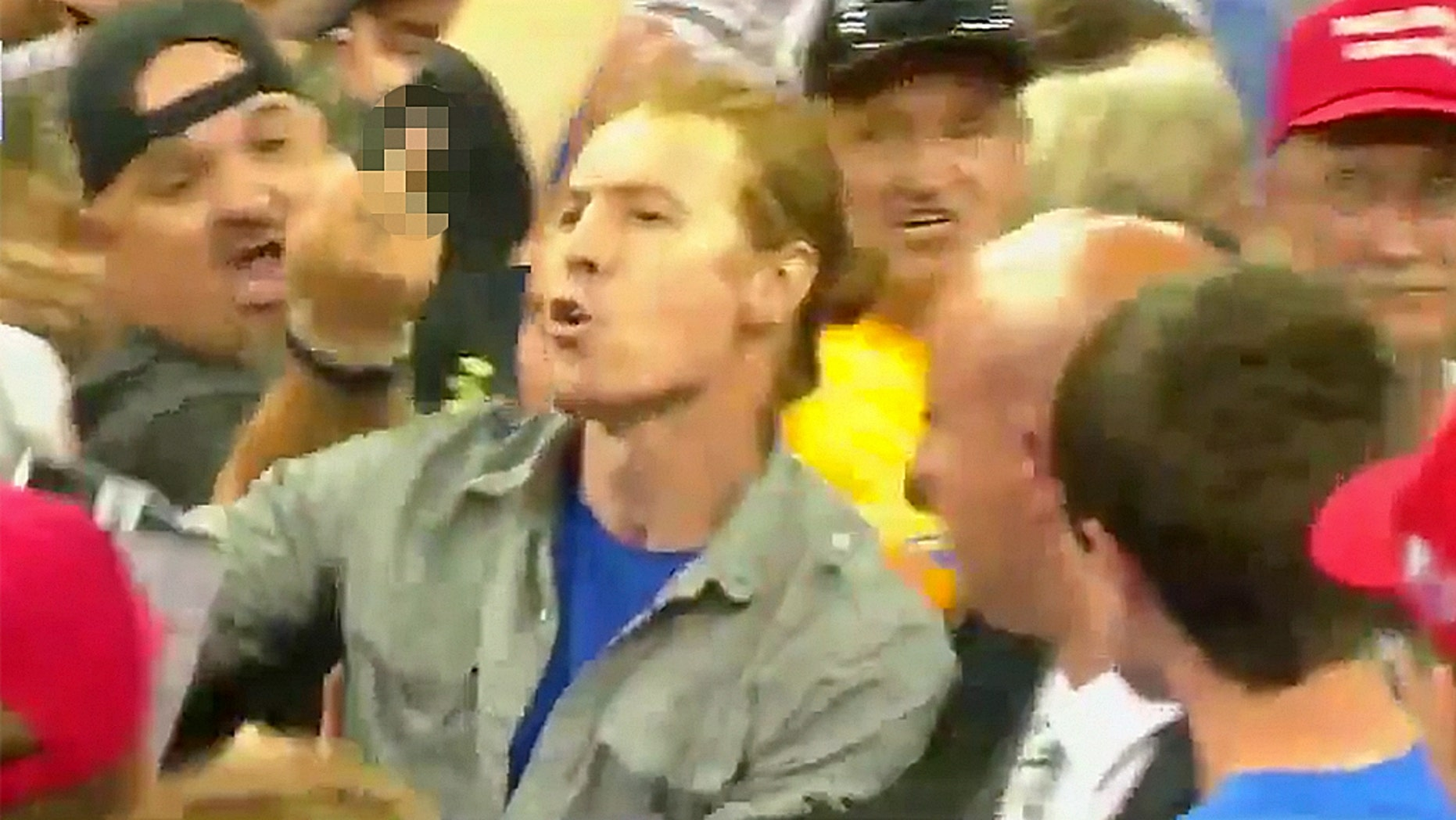 Sam Spadino was removed from a Trump rally in Minnesota Wednesday night.