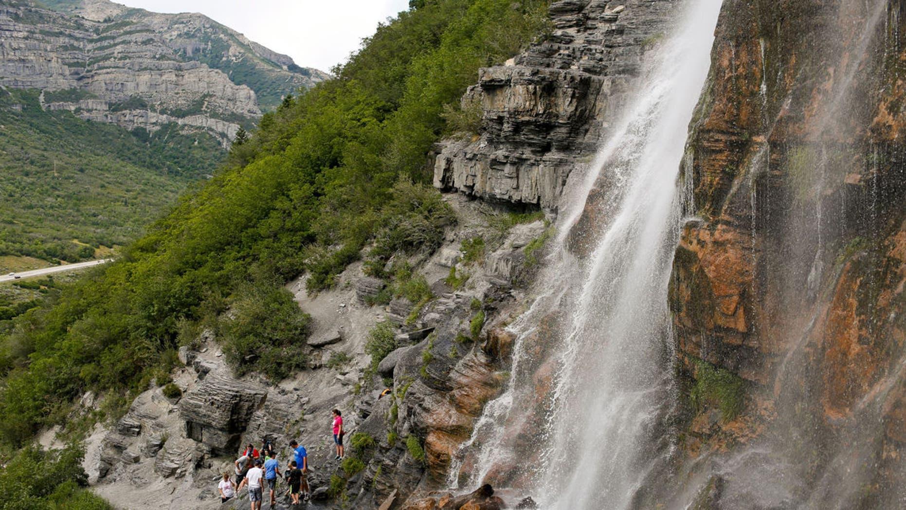 Bridal Veil Falls in Provo Canyon.