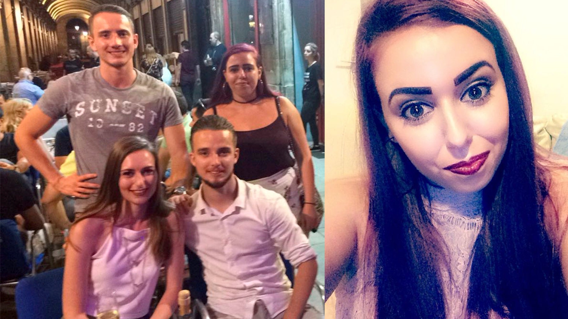 Sophie Stevenson says what she thought was a 'perfect holiday romance' with Jesse Mateman, top left, turned out to be a cruel joke.