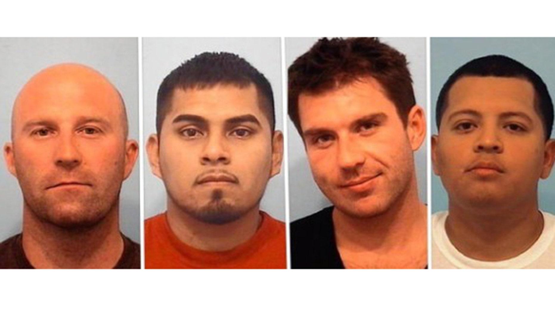 From left: Marcin K. Klepinowski, Andres Lopez, Swavek Krakowiak and Jesus Nino. (Naperville Police Department photos)