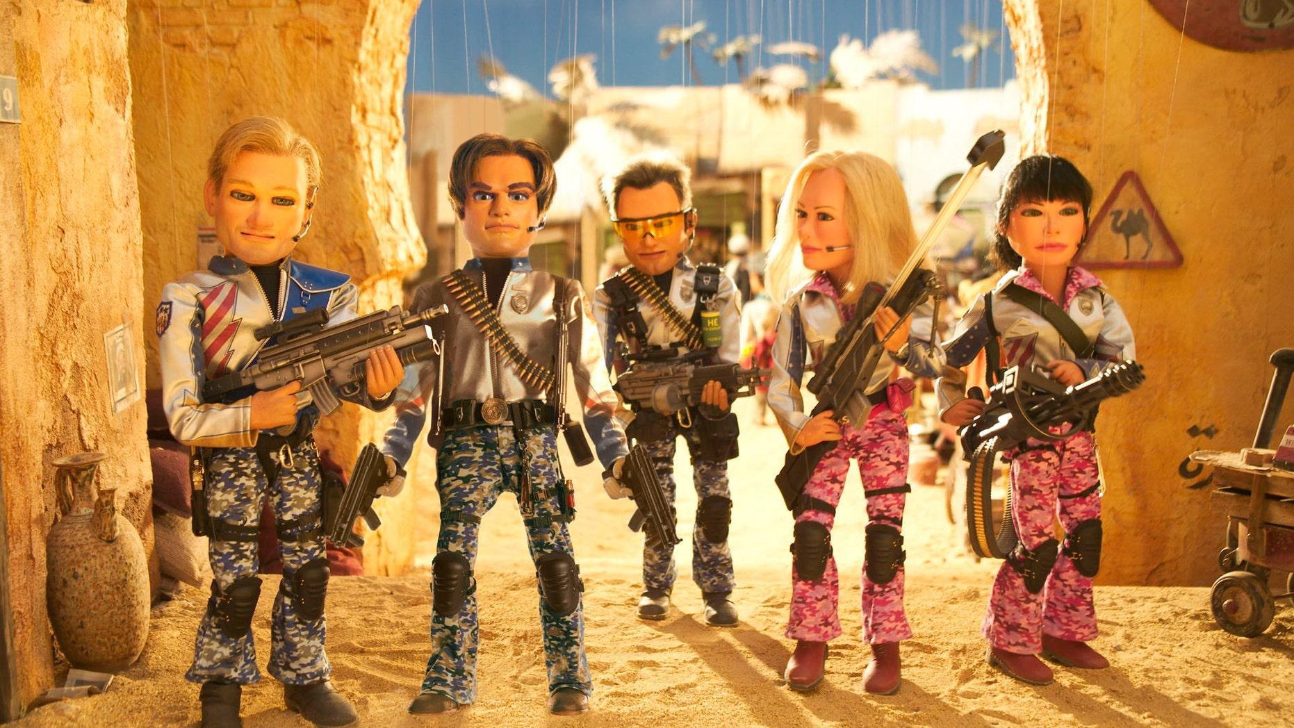 "Joe, Gary, Chris, Lisa and Sarah in ""Team America: World Police."""