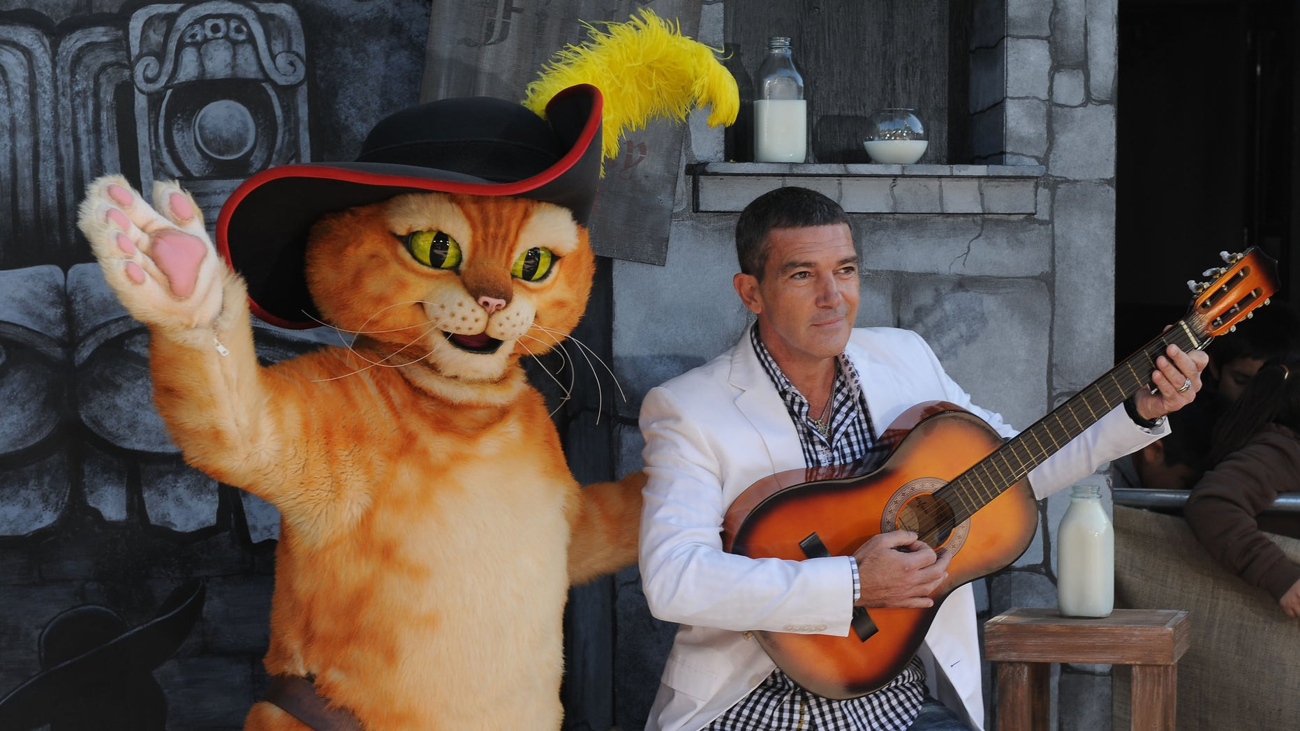 """Oct. 22, 2011: Antonio Banderas arrives at the premiere of """"Puss In Boots"""" at The Regency Village Theater in Los Angeles."""
