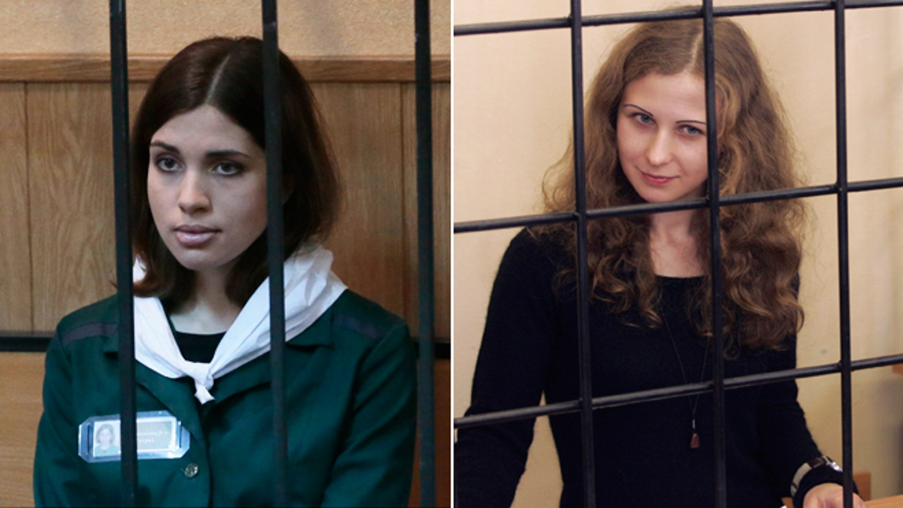 Nadezhda Tolokonnikova, left, and Maria Alyokhina will be freed from jail under an amnesty deal passed by Russian parliament, President Vladimir Putin said Thursday.