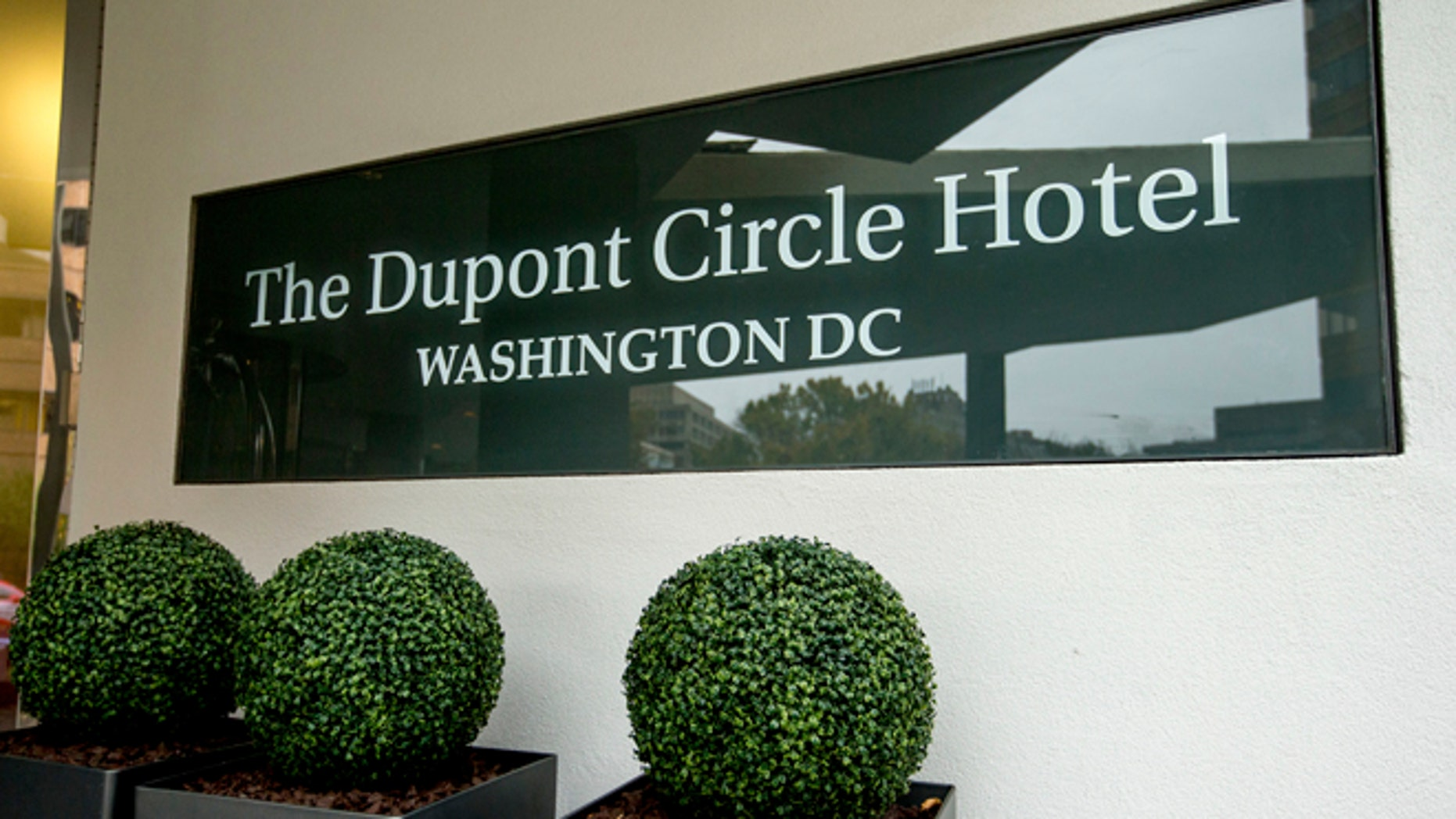 FILE - In this Nov. 7, 2015, file photo, the Dupont Circle Hotel in Washington where Mikhail Lesin, a former aide to Russian President Vladimir Putin, was found dead on Nov. 5, 2015.