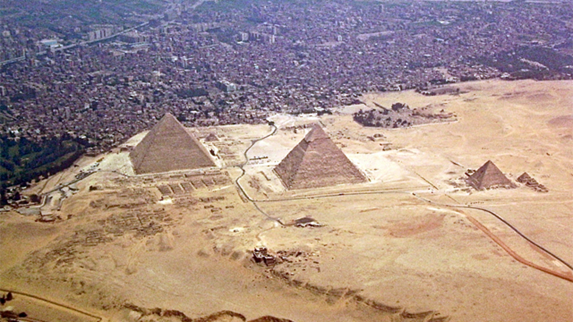Infrared imaging was used to locate ancient buried pyramids.