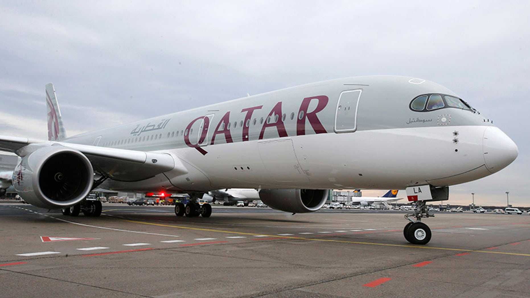 A Qatar Airways Airbus A350.