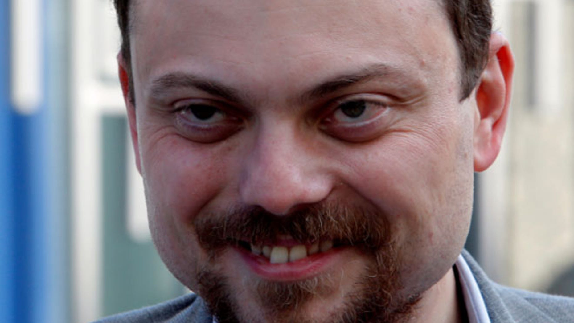 Russian opposition activist Vladimir Kara-Murza looks on following a visit of deputy candidates to the State Duma, the lower house of parliament