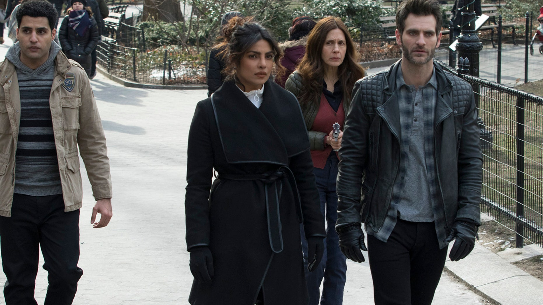 """Priyanka Chopra and her cast mates sparked online backlash after a recent epsiode of """"Quantico"""" that involved Indian nationalists in a terrorist plot."""