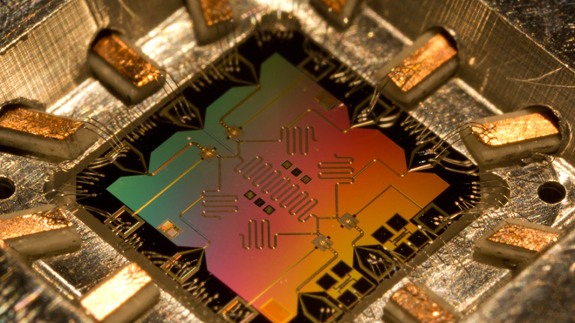 A quantum computer chip can process information several orders of magnitude faster than an ordinary silicon computer chip.