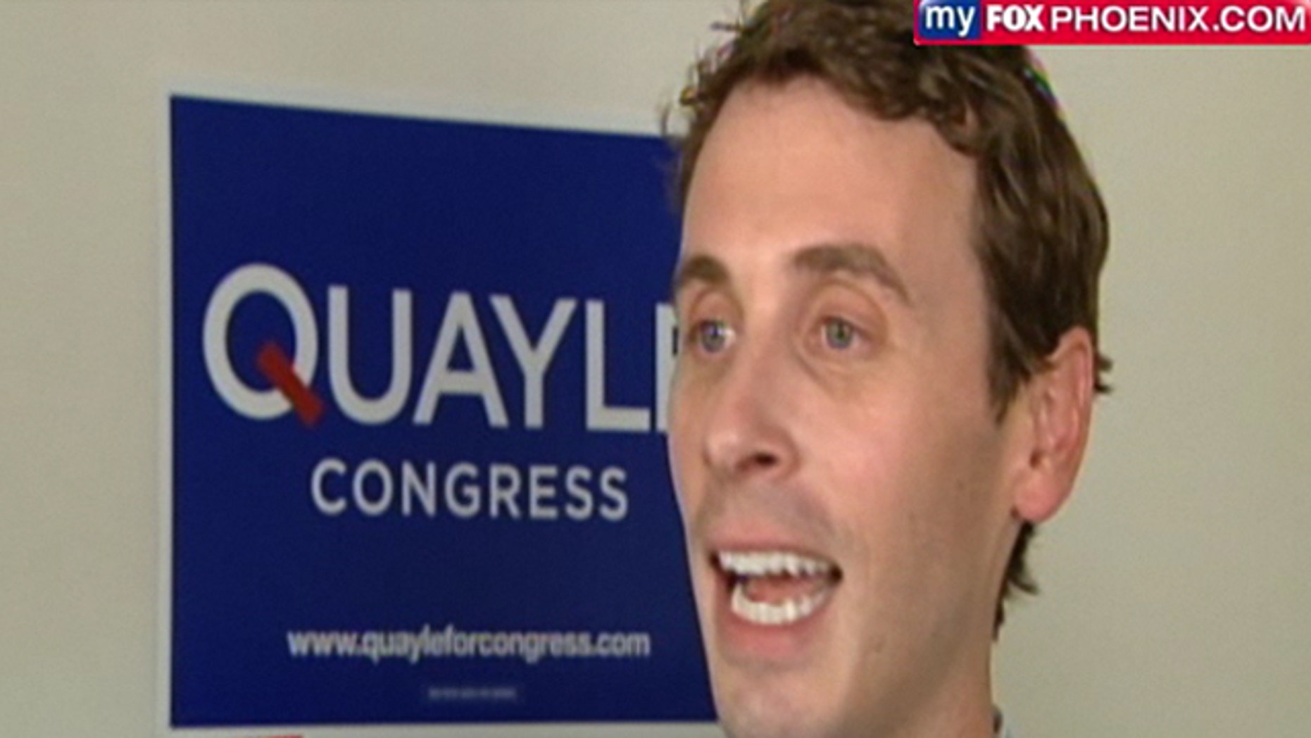 Shown here is U.S. House candidate Ben Quayle. (MyFoxPhoenix)