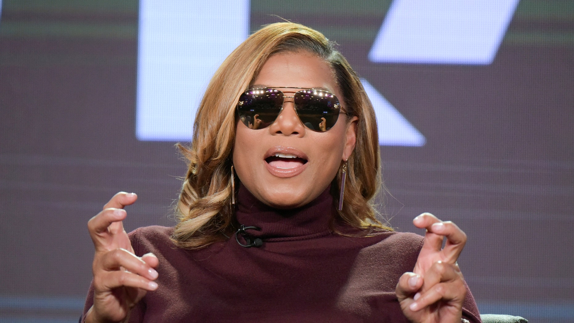 """Queen Latifah speaks at the """"Star"""" panel at the FOX portion of the 2017 Winter Television Critics Association press tour on Wednesday, Jan. 11, 2017, in Pasadena, Calif. (Photo by Richard Shotwell/Invision/AP)"""