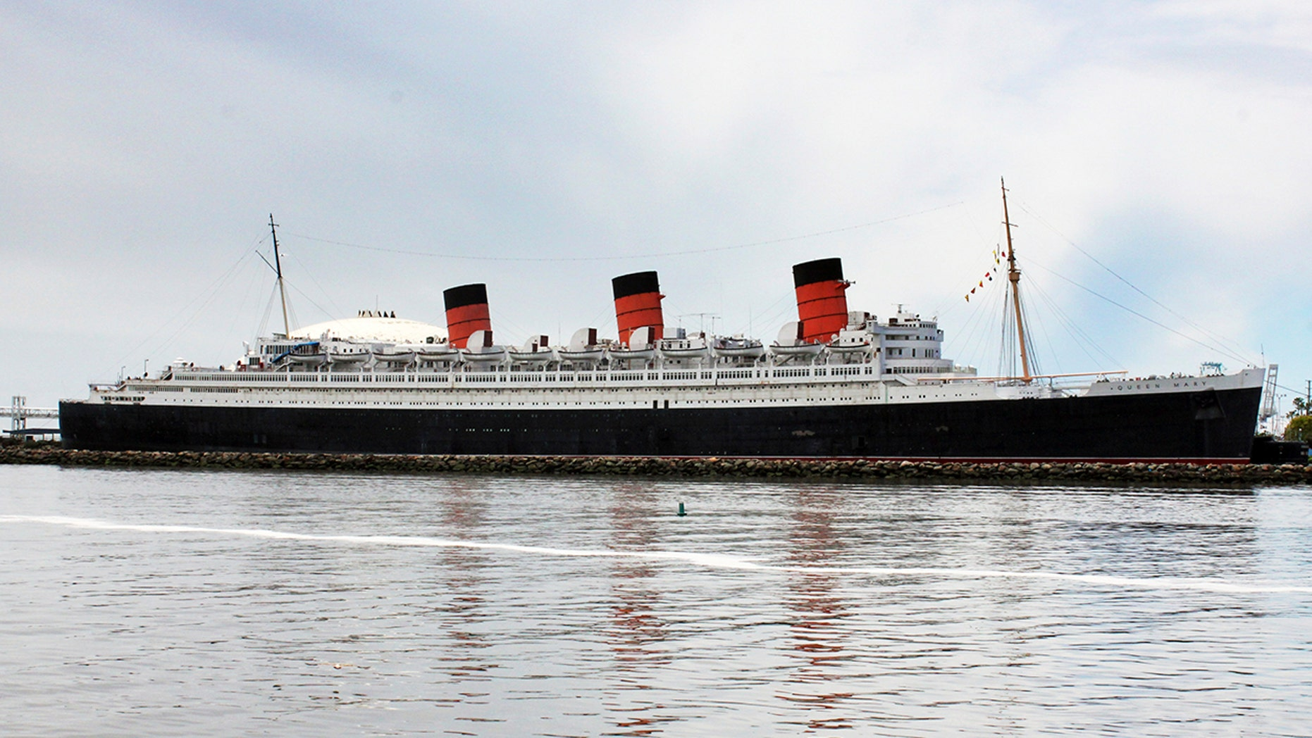 The ocean liner Queen Mary is seen in this May 15, 2015 photo.