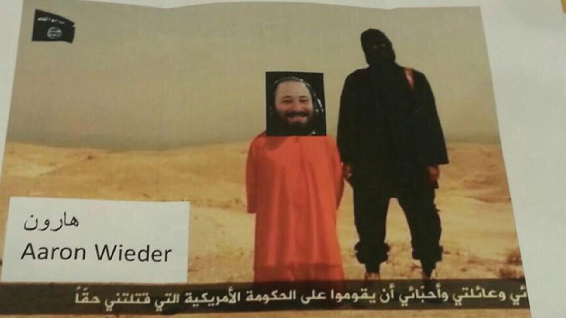 A New York lawmaker says the frightening, Photoshopped image was sent to his office by mail.