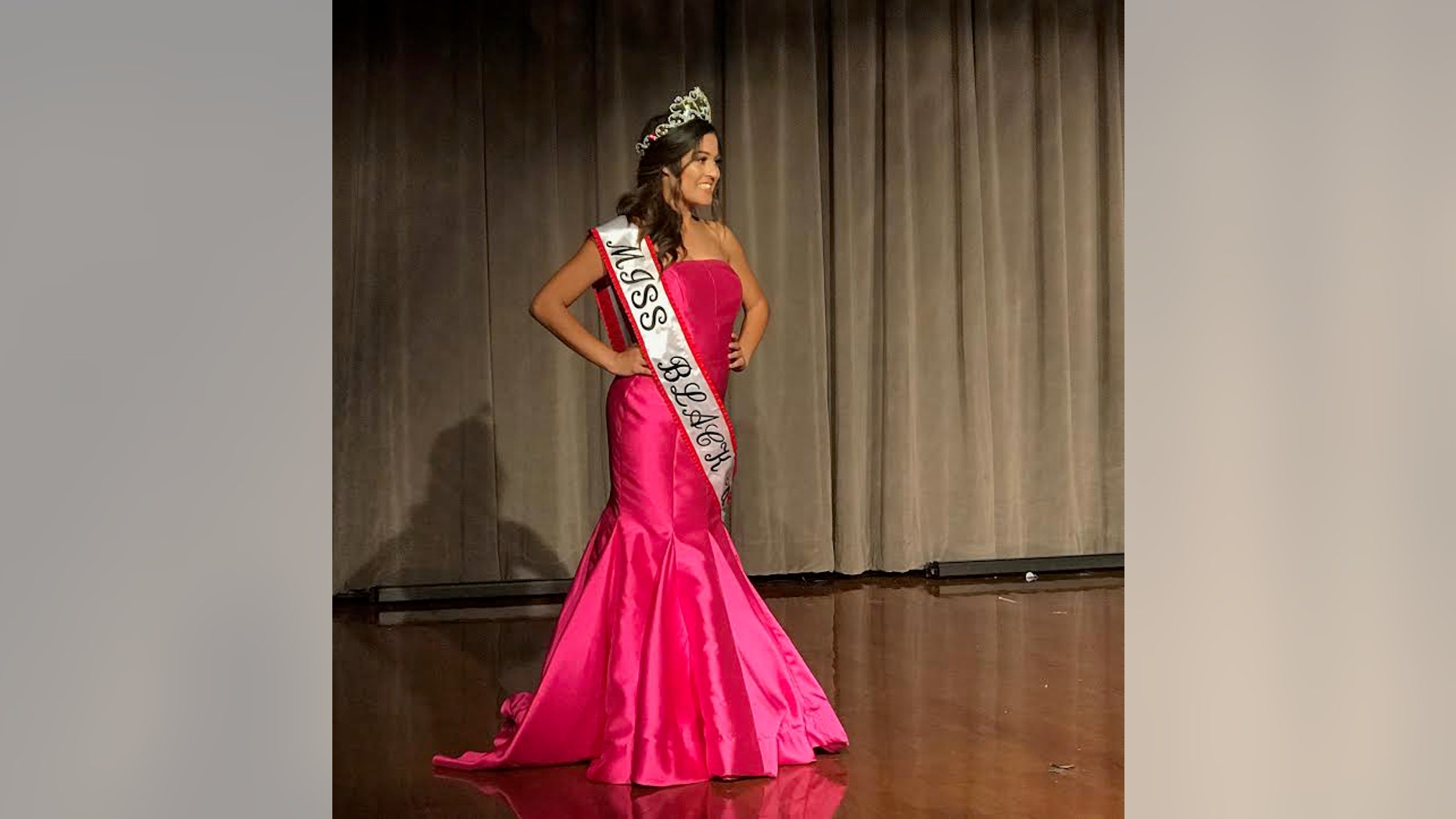 Rachael Malonson after she was crowned Miss Black University of Texas.