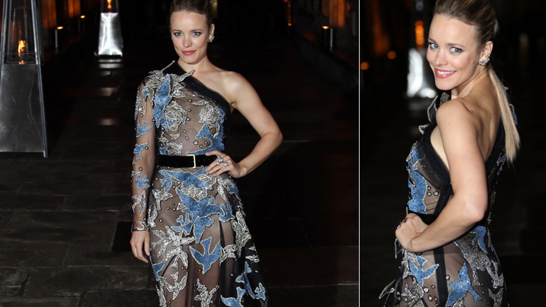"Rachel McAdams wears a sheer dress at the premiere of ""Doctor Strange"""