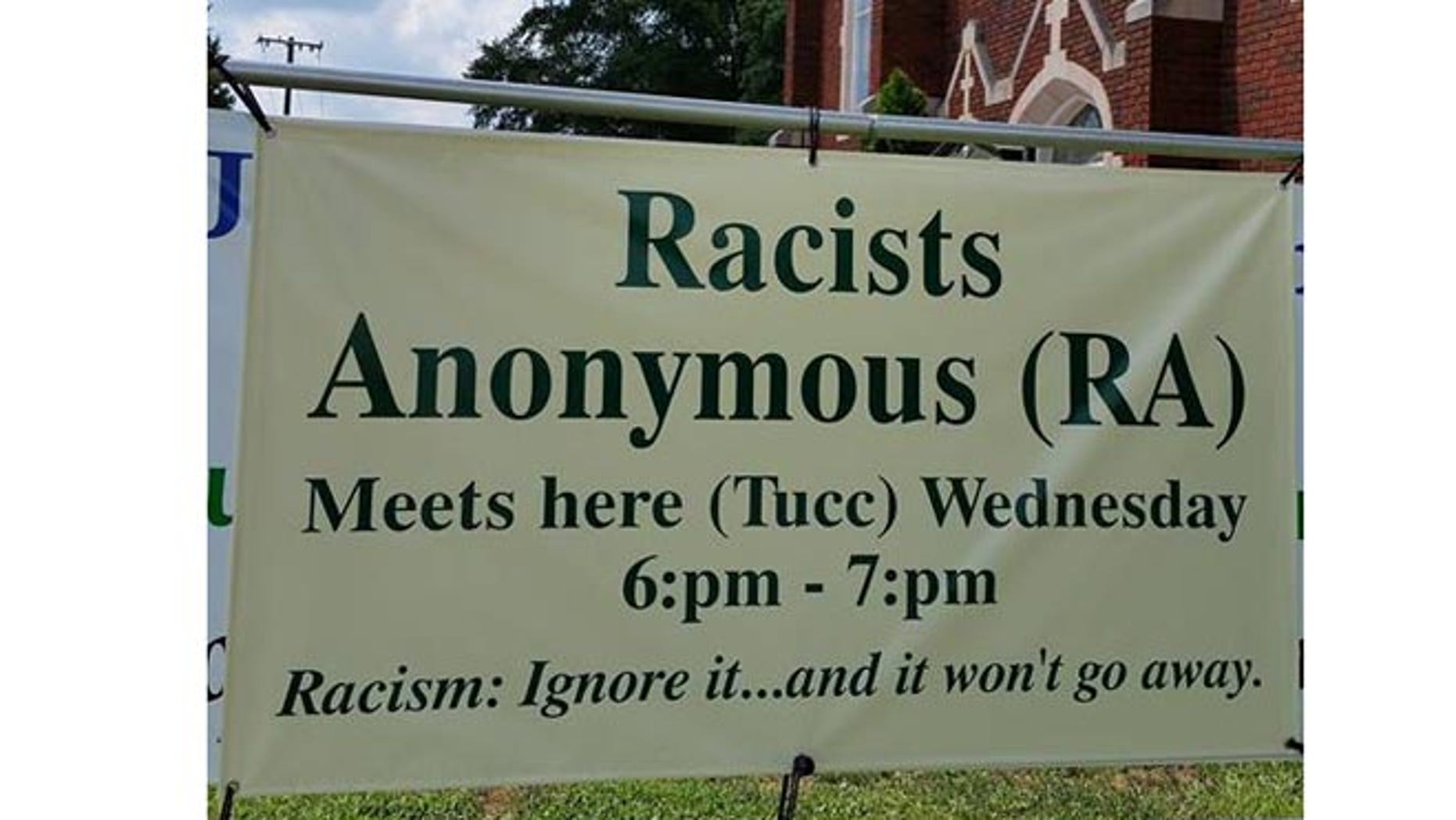 Sign outside Trinity United Church of Christ in Concord, N.C. (Rev. J. Nathan King)