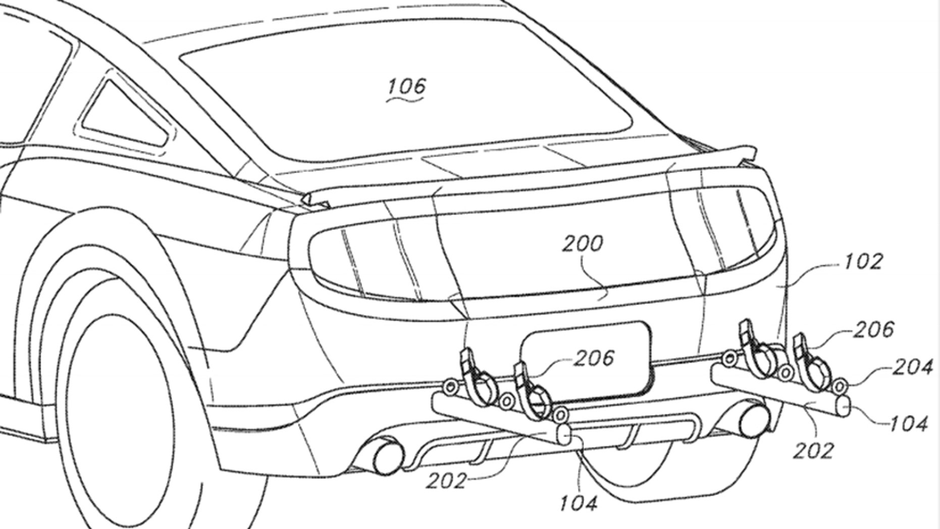 ford patent reveals mustang with built in hideaway bike rack fox news Car DVD System ford patent reveals mustang with built in hideaway bike rack