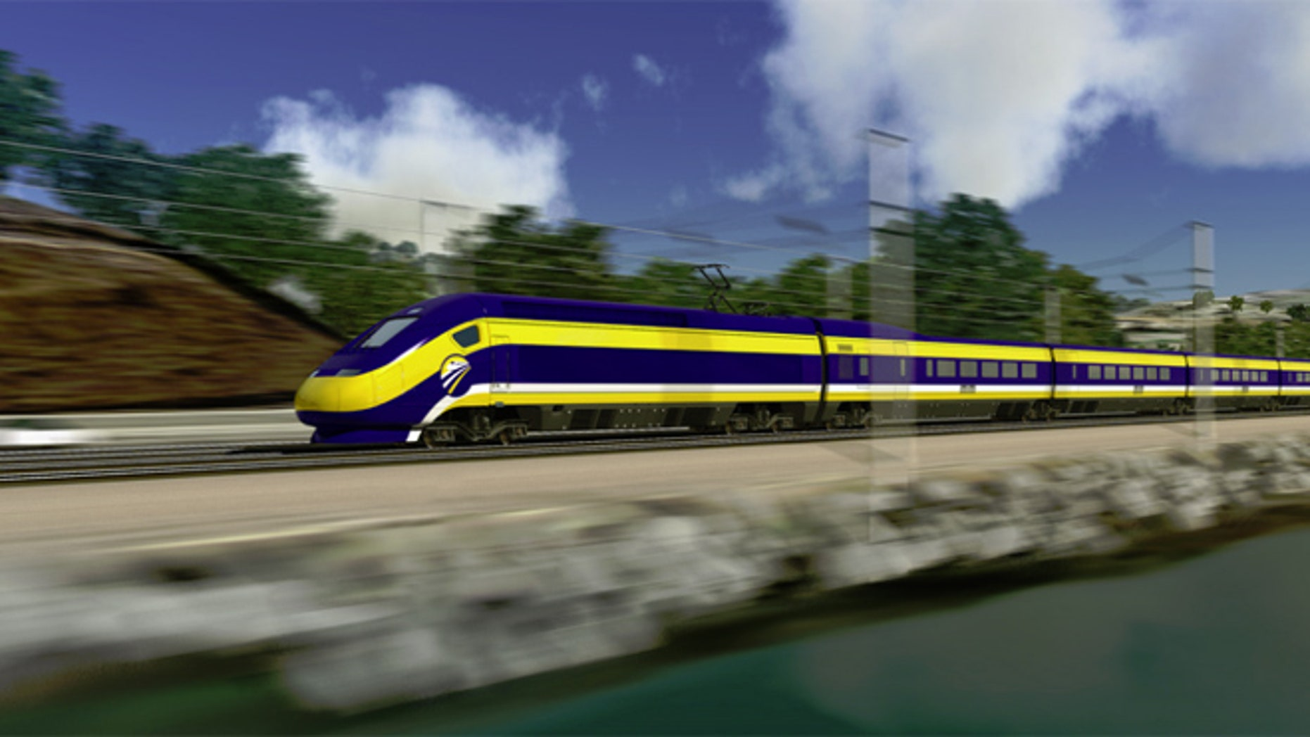 Shown here is a rendering of the California High-Speed Rail Project.
