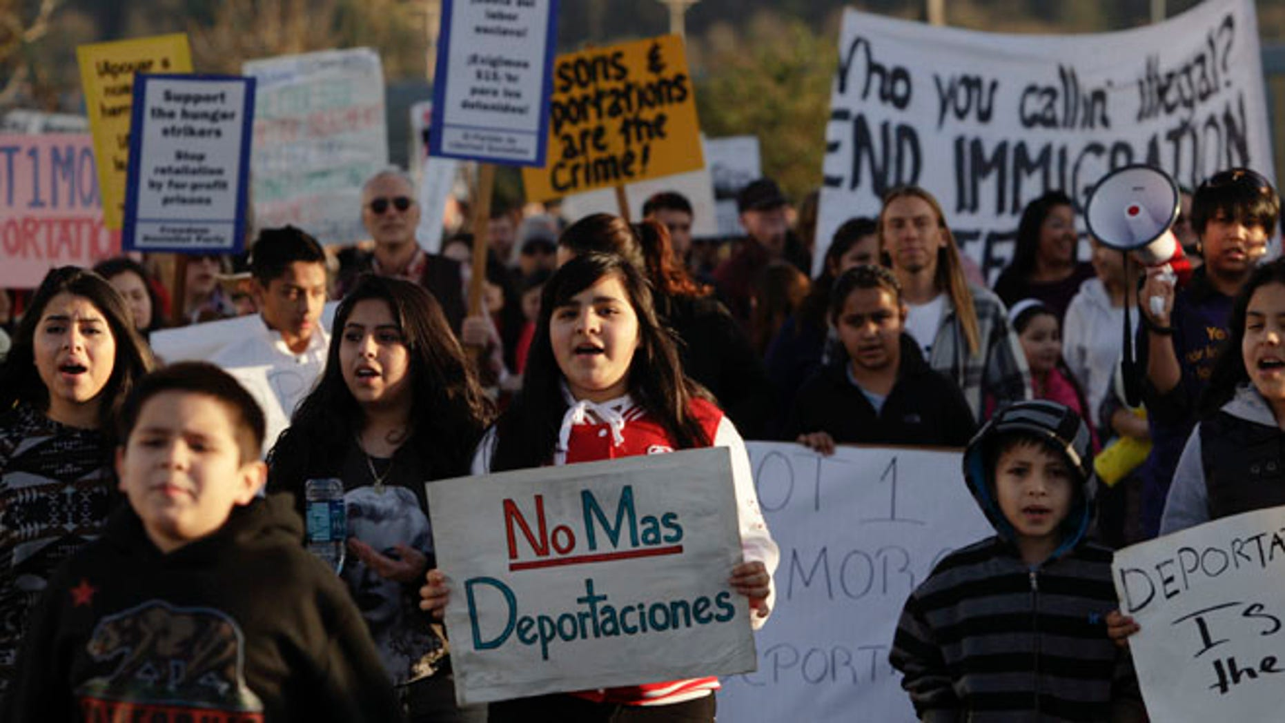 March 11, 2014: Immigrant rights supporters rally outside the Immigration and Customs Enforcement (ICE) Northwest Detention Center in Tacoma, Wash.
