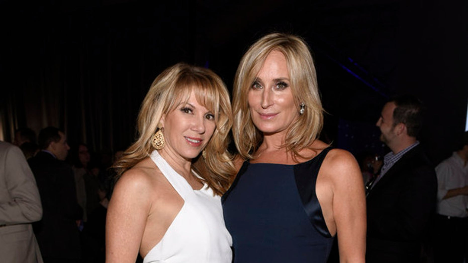 "Ramona Singer, left, and Sonja Morgan, of ""The Real Housewives of New York City"" pose for a photo on May 14, 2015. (Photo by: Dave Kotinsky/NBCUniversal Cable Entertainment)"