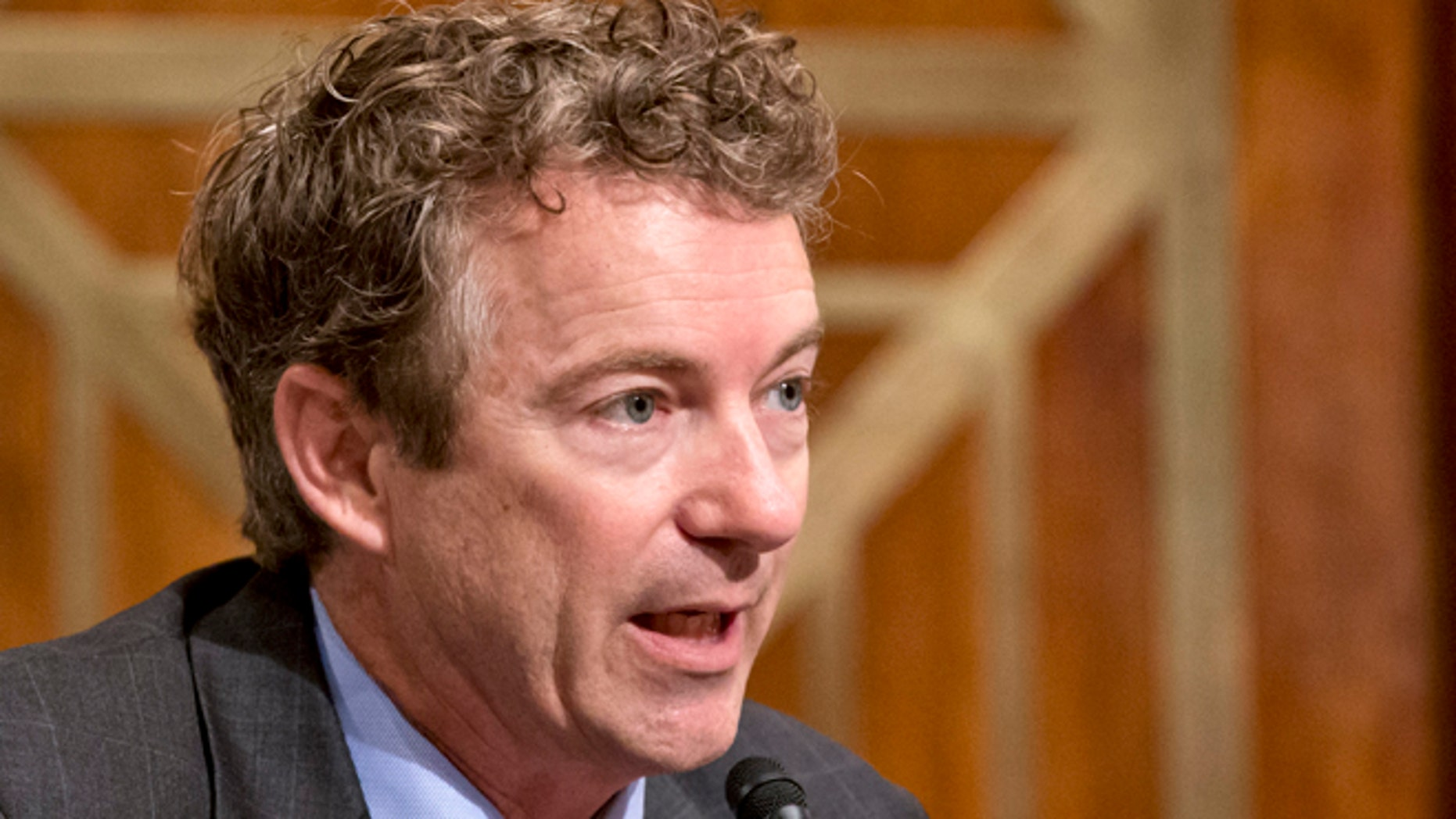 Nov. 6, 2013: Sen. Rand Paul, R-Ky., speaks on Capitol Hill in Washington.