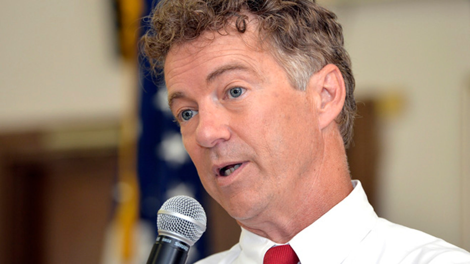 Aug. 10, 2015: Republican presidential candidate Sen. Rand Paul, R-Ky. speaks in Bowling Green, Ky. Pauls re-election campaign is on hold pending the outcome of his presidential bid. (AP)