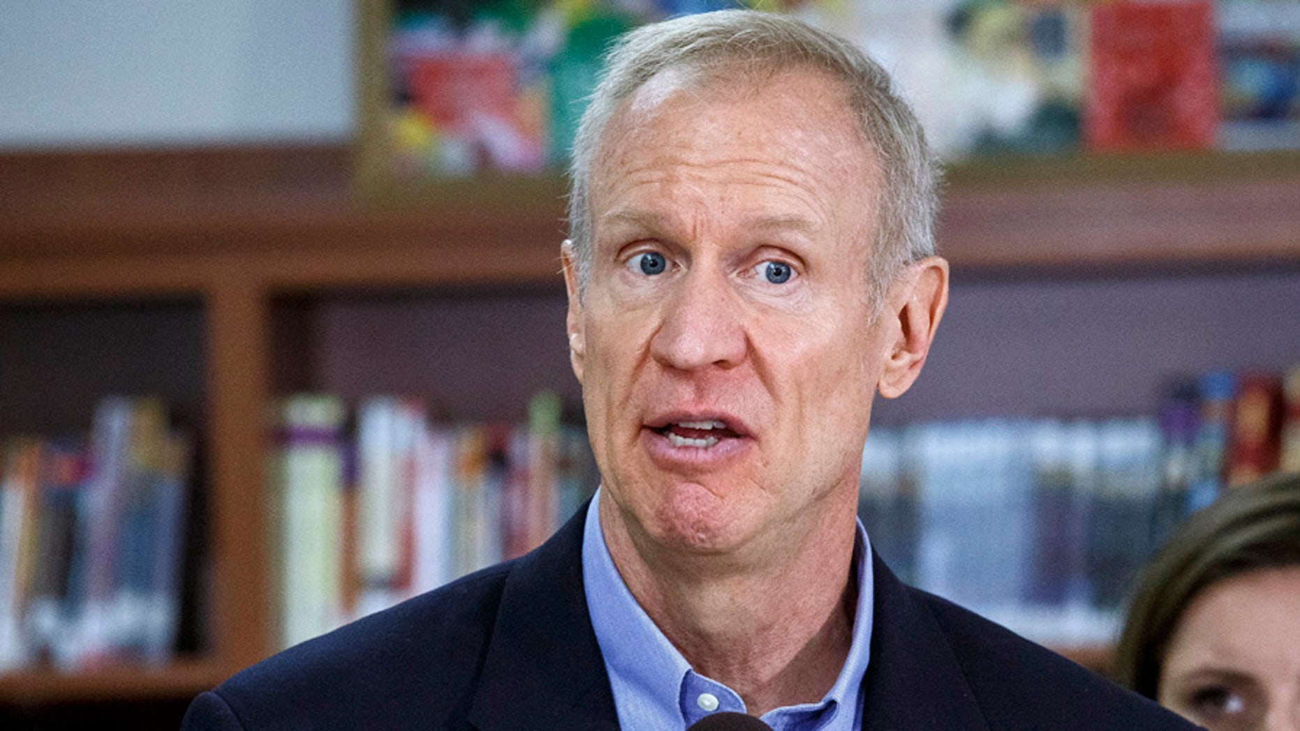 Illinois Gov. Bruce Rauner, shown in this Aug. 30, 2017 file photo, is facing a backlash for expanding taxpayer-funded abortions.