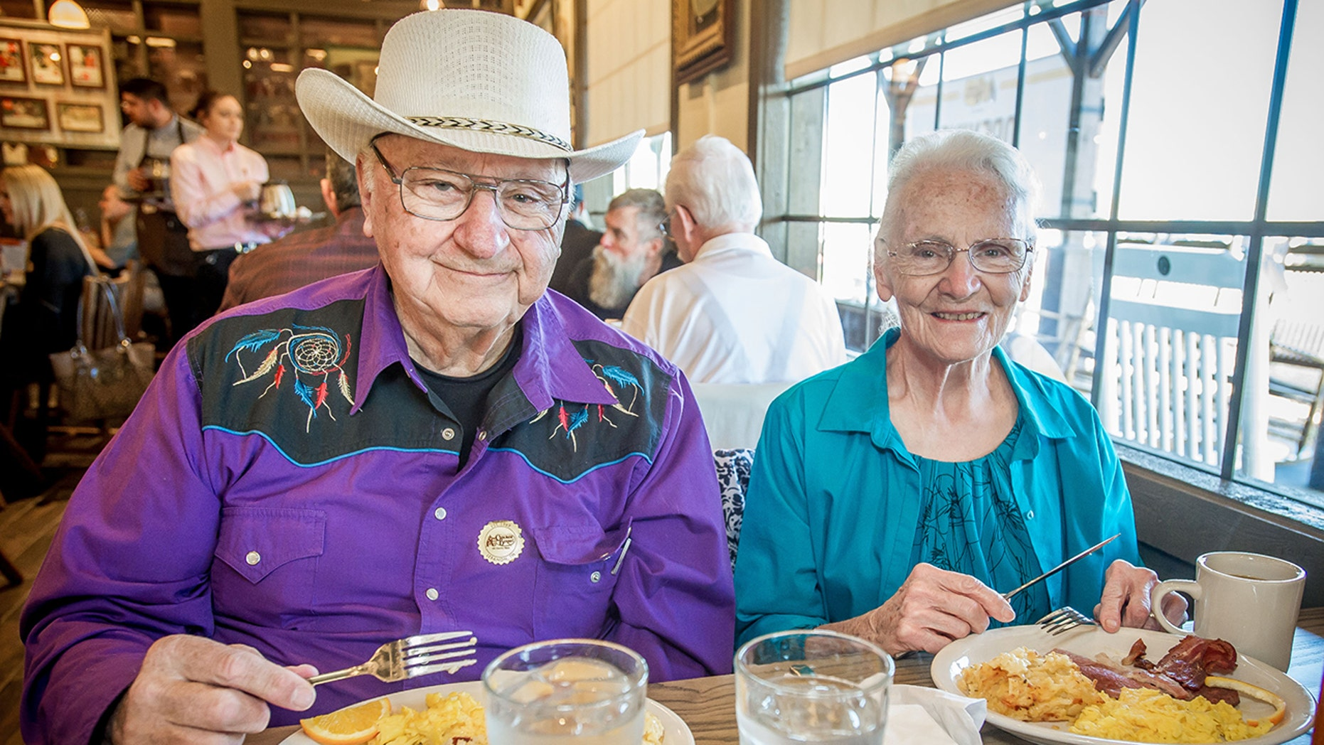 Ray and Wilma Yoder were at the ribbon cutting of the chain's Victorville restaurant.