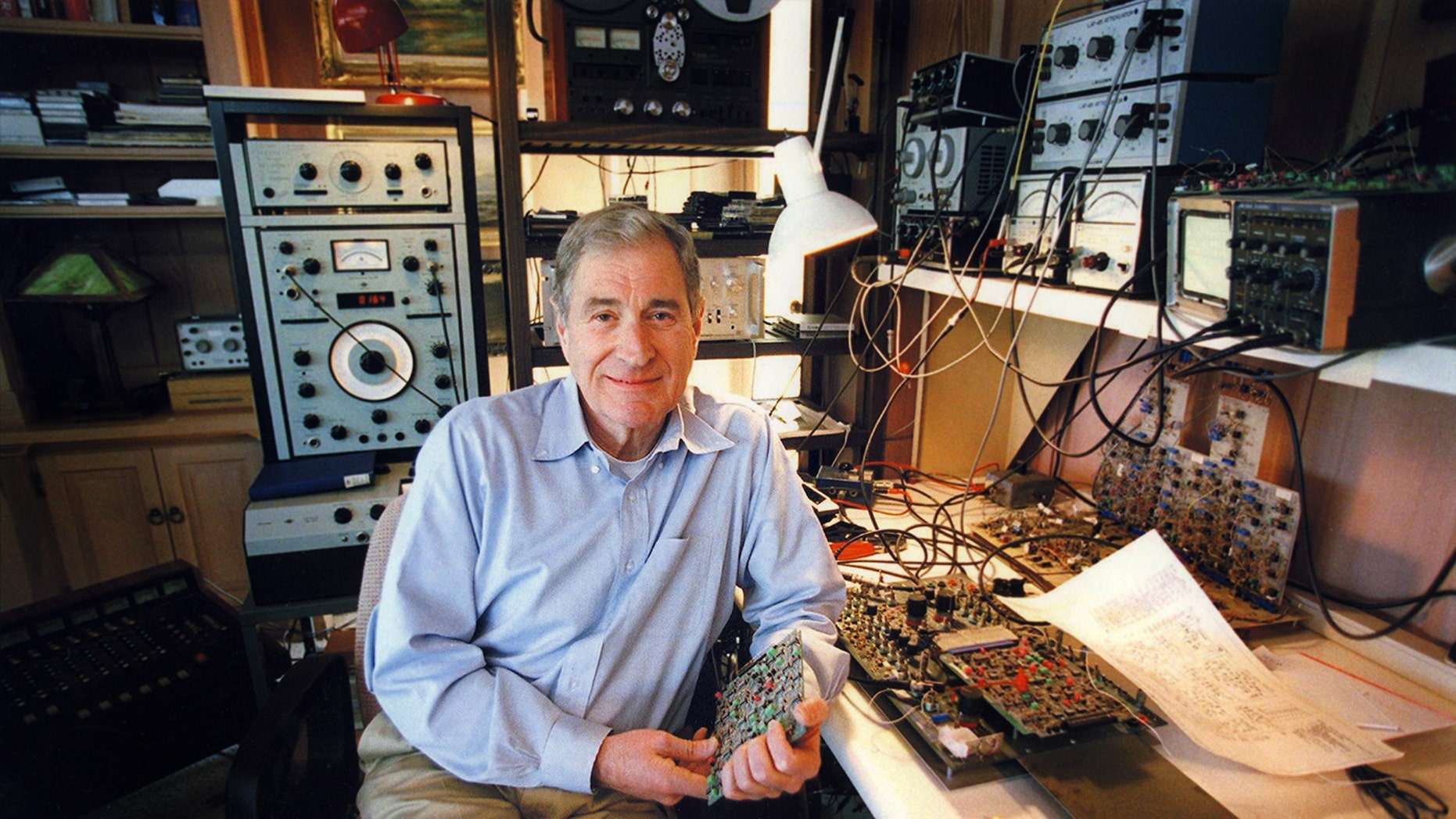 Ray Dolby in his lab