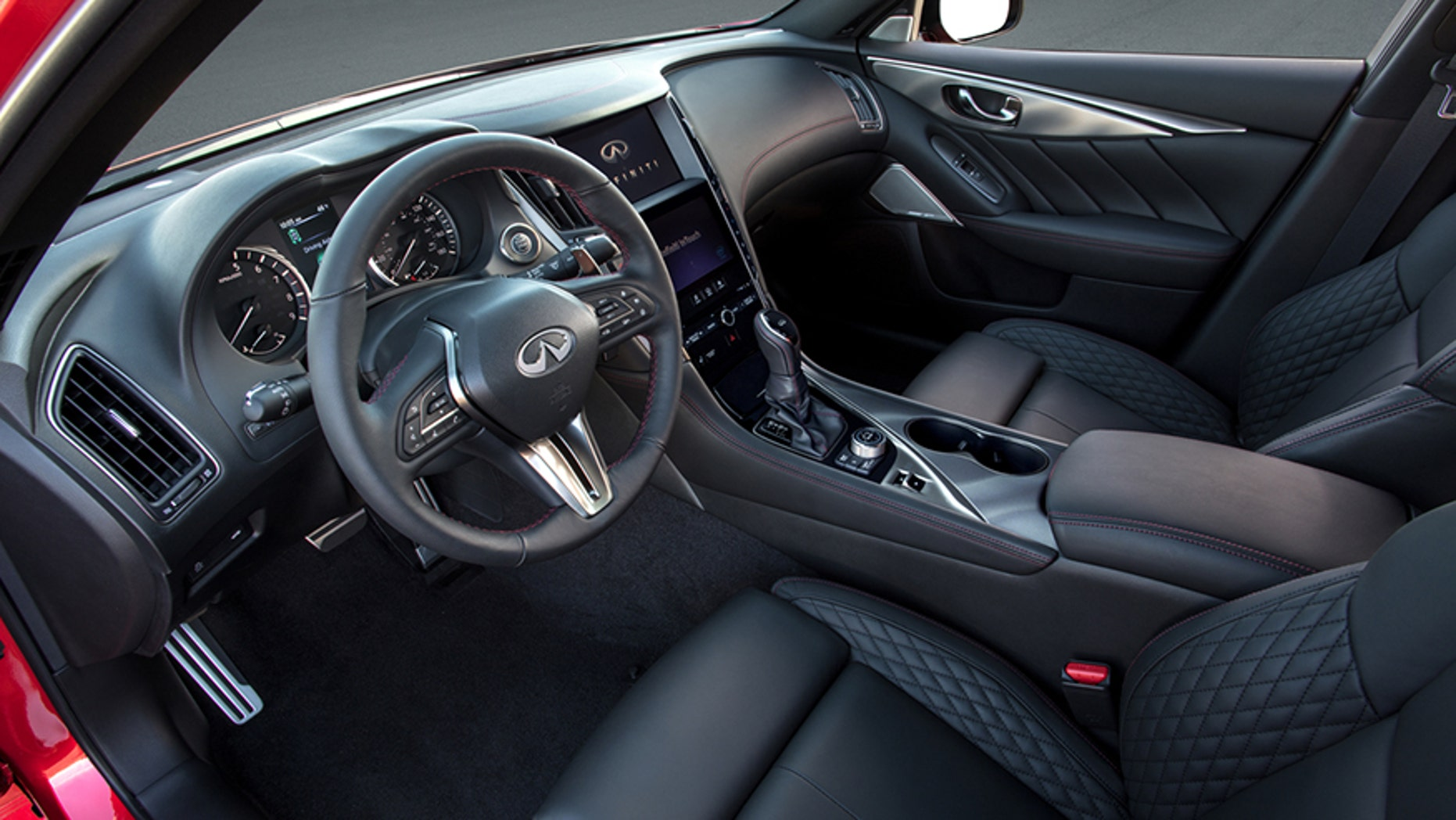 The 2018 Infiniti Q50 Sports Sedan Features A Refreshed Exterior And Interior Design As Well