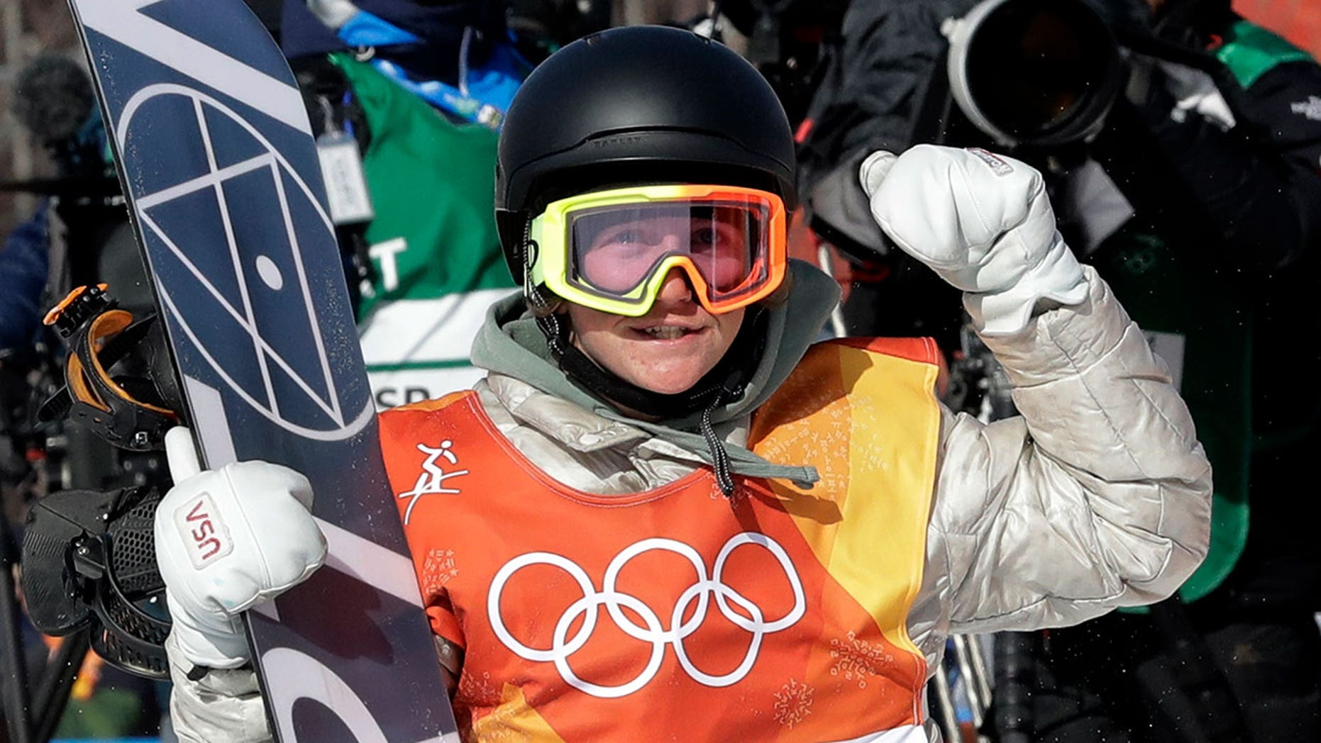 17-year-old snowboarder Red Gerard said his family was celebrating even before he won his early-morning snowboarding event.